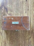 Vintage Fisher Scientific Co. Eimer And Amend Scale Weights In Solid Wooden Box.