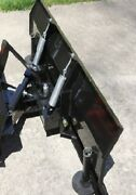 New 66 Hydraulic Snow Plow Subcompact Tractor With Skid Steer Universal Mount
