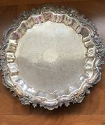 """F B Rogers Silver Co Tray 1883 - 16"""""""