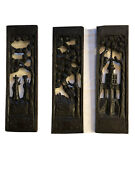 Antique Chinese Carved Wood Panels