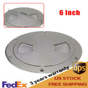 6 316 Stainless Steel Polished Deck Cabin Plate Boat Marine W/ Detachable Cover