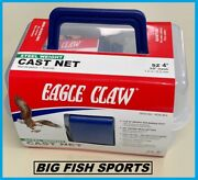 4' Eagle Claw Non-lead Bait Fish Casting Net New 10010-004 Free Usa Shipping