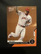 Mike Trout - Mlb Topps Nowandreg Card 71 - Orange Parallel 5/5