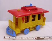 Renwal Trolley Car Pull Toy 1950s In Yellow For Parts Or Restore
