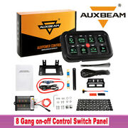 Auxbeam 8 Gang On-off Control Switch Panel Electronic Relay System Universal 60a