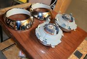 Porsche Early 911 Us Spec Sealed Beam Headlamps And Chrome Trim Ring Almost New.
