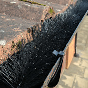 Best Quality Gutter Brush Guard Black 100mm Lock-down Delivery Lowest Prices