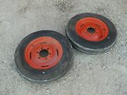 Coop E3 Cockshutt Tractor Rims And 5.50 X 16 Firestone 99 Tread Front Tires