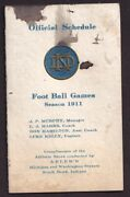 1911 Notre Dame Football Vintage Pocket Schedule With First Year Knute Rockne