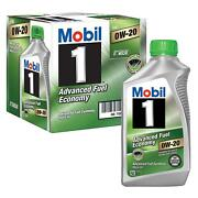 Mobil 1 Motor Oil - Advanced Fuel Economy - 0w20 - Synthetic - 1 Qt - Set Of 6