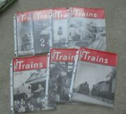 Lot Of 7 Different Vintage 1949 Trains Magazines