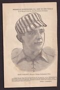 1890 Charles Comiskey Uncatalogued Players League Schedule Card