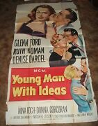 1952 Young Man With Ideas Glenn Ford Ruth Roman 3 Sheet Movie Poster