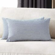 Pack Of 2 Farmhouse Decorative Stripe Throw Pillow Covers Classic Pillow Cases