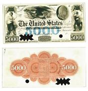 - Reproduction 1847 United States Notes 5000 Five Thousand 5000 Dollars Usa P51