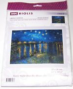 Starry Night Over The Rhone Counted Cross Stitch Kit After Van Goghand039s Painting