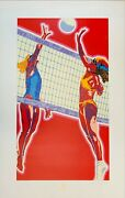 Volleyball - Limited Edition Serigraph Signed And Numbered Artist Hiro Yamagata,
