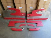 58/59 Corvette Red Leather Custom Door Panels With Arm Rests New Resto Mod