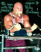 Wwe Billy Graham Hand Signed Autographed 8x10 Photo With Beckett Coa Rare 8