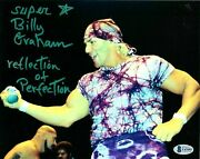 Wwe Billy Graham Hand Signed Autographed 8x10 Photo With Beckett Coa Rare 16