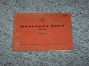 1966 Mercedes Benz 230s 230 S Factory Parts Catalog Manual W111 Chassis Body