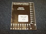 International Harvester Hough H400c Pay Loader Wheel Loader Parts Catalog Manual