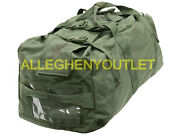 Us Military Heavy Duty Duffel Duffle Bag Improved W/ Padded Straps Vgc