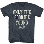 Billy Joel Only The Good Die Young Big Letters Adult T Shirt Rock Music Merch