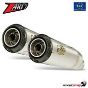 Zard Pair Of Exhaust Steel Approved+carbon Cap Triumph Speed Twin 1200 2019