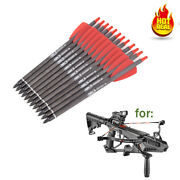 12pcs 7.5inch Crossbow Bolts Carbon Arrows 2 Vanes Sports Crossbow Hunting New