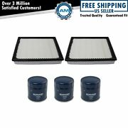 Ecogard 3 Engine Oil Filters And 2 Air Filters Service Kit For Gm Pickup Suv