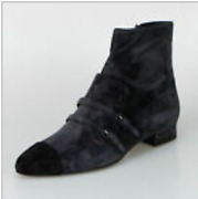 Nib Dark Grey Suede Double Buckle Mock Loafer Short Boots Shoes 11/42