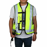 Motorcycle Yellow Air Bag Air Nest Airbag Vest Safety + Co2 Cartridge L Xxl Size