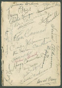 Errol Flynn - Book Page Signed With Co-signers