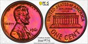 1961 Lincoln Memorial Cent Penny 1c Pcgs Pr 66 Rb Proof Unc - Toning 715
