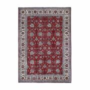 7and0392x10and0397 Semi Antique Farsian Tebraz All Over Design Hand Knotted Rug R59457