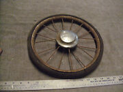 Vintage Metal Spoke Hard Rubber Carriage Buggy Wheels Made By Storkline 2