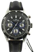 Fortis Menand039s Marinemaster 800.20.85.l.01 Black Auto Chrono Limited Edition Watch