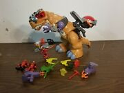 Fisher Price Imaginext Mega T-rex Action Gear With Raptor Riders Extras