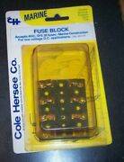 Cole Hersee M-414 Fuse Block 4 Gang Fuse 20 Amp Marine / Boat