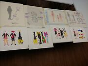 Original Vintage Golden Books Full House Paper Doll Paintings Artwork Collection