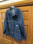 Very Rare Gross Rail Chief Blue Denim Chore Jacket 1950and039s Galesburg Co. Sz 42
