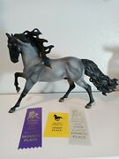 Custom Breyer Blue Roan New Condition Andalusian Stallion Traditional W/ribbons