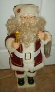 Animated Santa Claus Christmas Telco Motionette Figure Works Nice