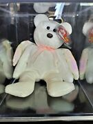 Halo The Bear Ty Beanie Baby Rare - 1998 W/tag Errors Brown Nose
