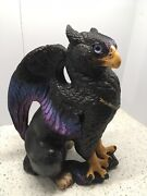 Vtg Windstone Editions Male Griffin With Jewel 1989