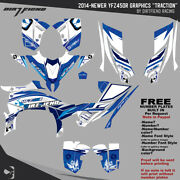 Dfr Traction Graphic Kit Blue Full Wrap 2014-newer Yamaha Yfz450r