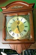 Vintage Ridgeway Wall Clock Parts Only Chimes Noted When Set Down