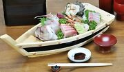 Boat Heaper 36cm Wooden Sashimi Sushi Luxury Party Event Made In Japan Y/n