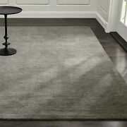 Area Rugs 10and039 X 14and039 Baxter Grey Hand Tufted Crate And Barrel Woolen Carpet